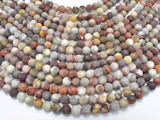 Matte Mexican Crazy Lace Agate Beads, 6mm Round Beads-BeadXpert