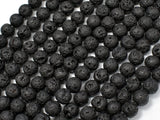 Black Lava Beads, Round, 6mm-BeadXpert