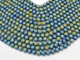 Druzy Agate Beads, Blue Geode Beads, Approx 8 mm(8.4mm) Round-BeadXpert
