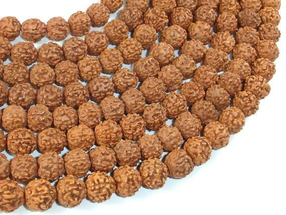 Rudraksha Beads, 9.5mm-10.5mm Round Beads