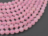 Rose Quartz Beads, 8mm (8.4mm) Round Beads-BeadXpert