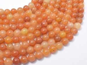 Red Aventurine Beads, Round, 8mm-BeadXpert