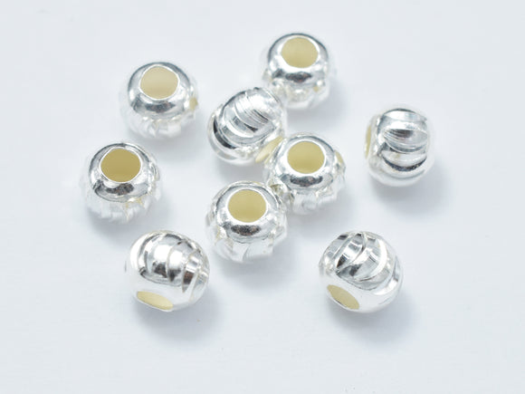 10pcs 5mm 925 Sterling Silver Beads, 5mm x 4.2mm Rondelle Beads-BeadXpert