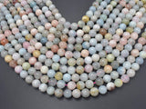 Beryl Beads, Morganite, Aquamarine, Heliodor, 10mm Round-BeadXpert