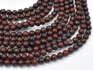 Brecciated Jasper Beads, Round, 6mm-BeadXpert