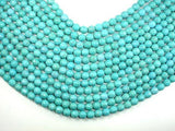 Turquoise Howlite, 8mm (7.5 mm) Faceted Round Beads-BeadXpert