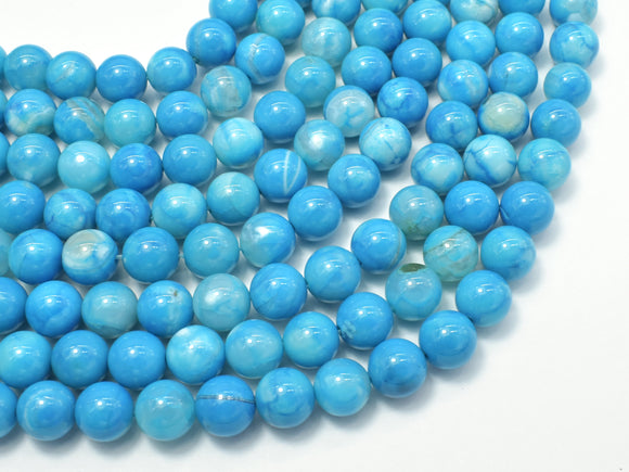 Blue Fire Agate, 8mm (8.3mm) Round-BeadXpert