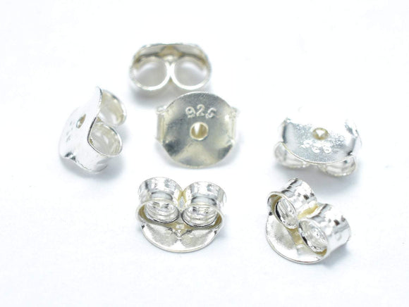 10pcs 925 Sterling Silver Earnuts, Butterfly Backings
