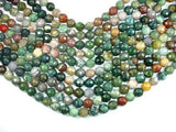 Indian Agate, 12mm Faceted Round-BeadXpert