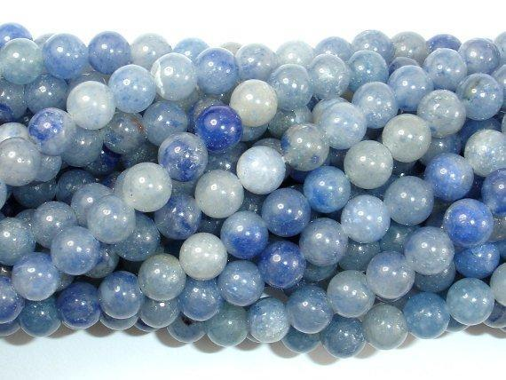 Blue Aventurine Beads, Round, 6mm-BeadXpert
