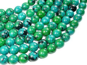 Chrysocolla, 14mm Round Beads-BeadXpert