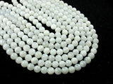 White Moonstone Beads, 6.5mm(6.8mm) Round Beads-BeadXpert
