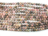 Rhodonite, 12mm Round Beads-BeadXpert
