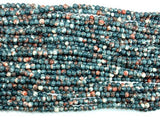 Rain Flower Stone, Gray, 4mm Round Beads-BeadXpert