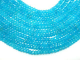 Blue Jade Beads, Approx 5mm x 8mm Faceted Rondelle-BeadXpert