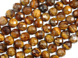 Tiger Eye Beads, 10mm Faceted Round-BeadXpert