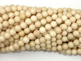 White Fossil Jasper Beads, 4mm (4.5mm) Round Beads-BeadXpert