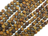 Matte Tiger Eye, 6mm Round Beads-BeadXpert