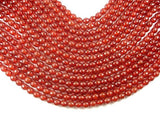 Carnelian Beads, 8mm, Red, Faceted Round Beads-BeadXpert