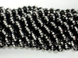 Black Onyx with Rhinestone, 6mm Round Beads-BeadXpert