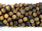Matte Tiger Eye, 8mm Round Beads-BeadXpert