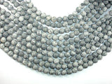 Matte Gray Picture Jasper Beads, 10mm Round Beads-BeadXpert