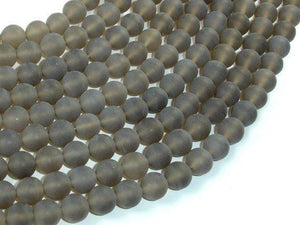 Matte Gray Agate Beads, 8mm Round Beads-BeadXpert
