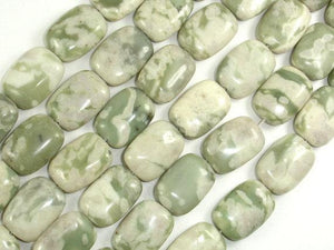 Peace Jade Beads, 13x18mm Rectangle Beads-BeadXpert