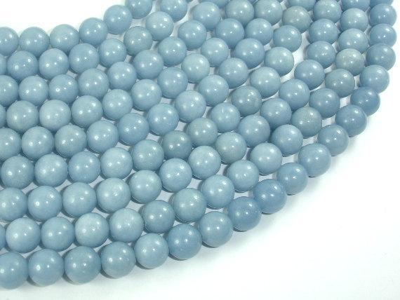 Angelite, 8mm Round Beads-BeadXpert
