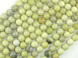 Butter Jade Beads, 6mm Round Beads-BeadXpert