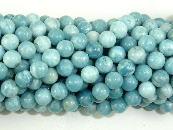 Larimar Quartz, 6mm Round Beads-BeadXpert