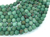 Matte Dragon Blood Jasper Beads, 8mm, Round Beads-BeadXpert