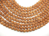 Rudraksha Beads, 9mm-9.5mm Round Beads-BeadXpert