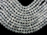 Crackle Clear Quartz Beads, 10mm Round Beads-BeadXpert