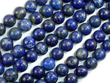 Natural Lapis Lazuli, Blue 10mm Round Beads-BeadXpert