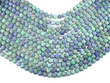 Matte Azurite Malachite Beads, 8mm Round Beads-BeadXpert