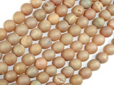 Druzy Agate Beads, Geode Beads, Light Champagne, 8mm, Round Beads-BeadXpert