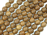 Wenge Wood Beads, 8mm Round Beads, 34 Inch-BeadXpert