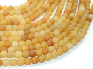 Matte Yellow Aventurine Beads, 6mm, Round Beads-BeadXpert