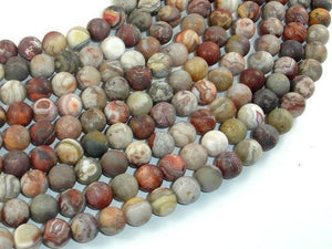 Matte Mexican Crazy Lace Agate Beads, 8mm Round Beads-BeadXpert