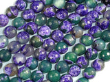 Agate Beads, Purple & Green, 8mm Faceted-BeadXpert