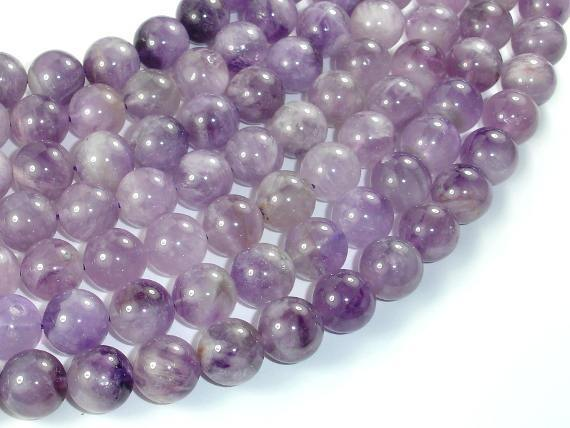 Light Amethyst, 12mm Round Beads-BeadXpert