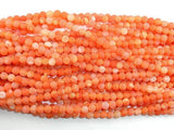 Frosted Matte Agate- Orange, 6 mm Round Beads-BeadXpert