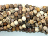 Matte Brown Zebra Jasper Beads, 6mm Round Beads-BeadXpert