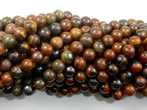 Tiger Iron Beads, 6mm Round Beads-BeadXpert