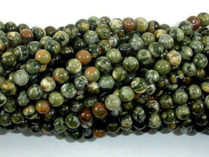 Rhyolite Beads, 4mm (4.6mm) Round Beads-BeadXpert