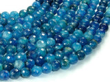 Blue Agate Beads, 8mm Faceted Round Beads-BeadXpert