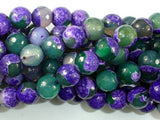 Agate Beads, Purple & Green, 10mm Faceted-BeadXpert