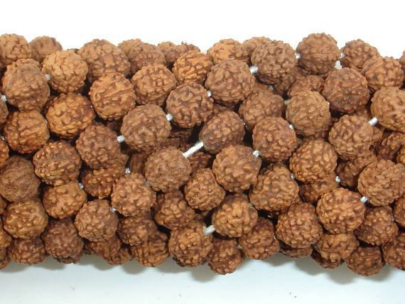 Rudraksha Beads, 7.5mm-8.5mm Round Beads-BeadXpert