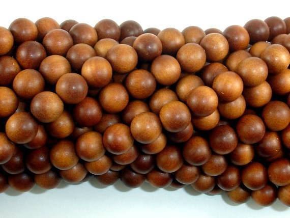 Sandalwood Beads, 8mm Round Beads-BeadXpert